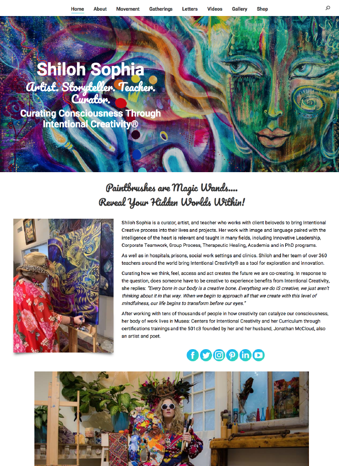 Shiloh Sophia Website